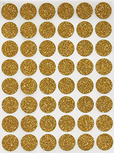 Royal Green Gold Sparkly Color Coding Labels 5/8inch Diameter (11/16) Dot...