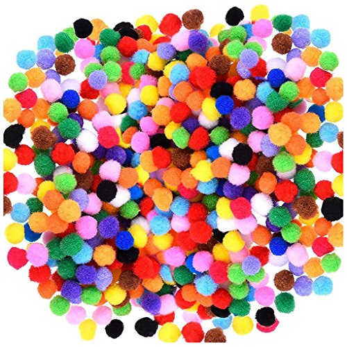 Acerich 2000 Pcs 1cm Assorted Pompoms Multicolor Valentine Day Arts and...