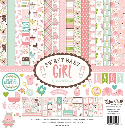 Echo Park Paper Company SBG142016 Sweet Baby Girl Collection Kit...