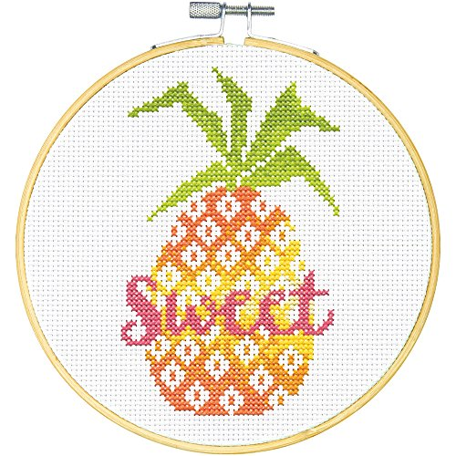 Dimensions Learn-A-Craft Sweet Pineapple Counted Cross Stitch Kit for...