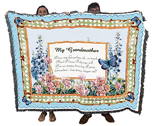 Pure Country Weavers | My Grandmother Gift Woven Tapestry Throw Blanket...