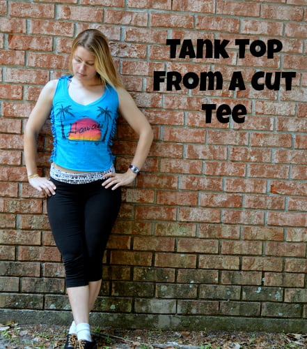 Tank top from a cut tee