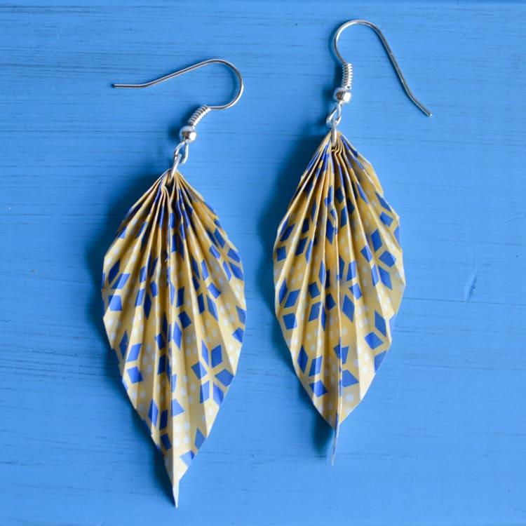 oragami leaf earrings finished 2