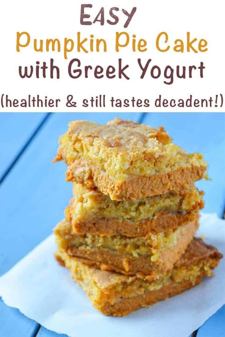 Easy Pumpkin Pie Cake with Greek Yogurt