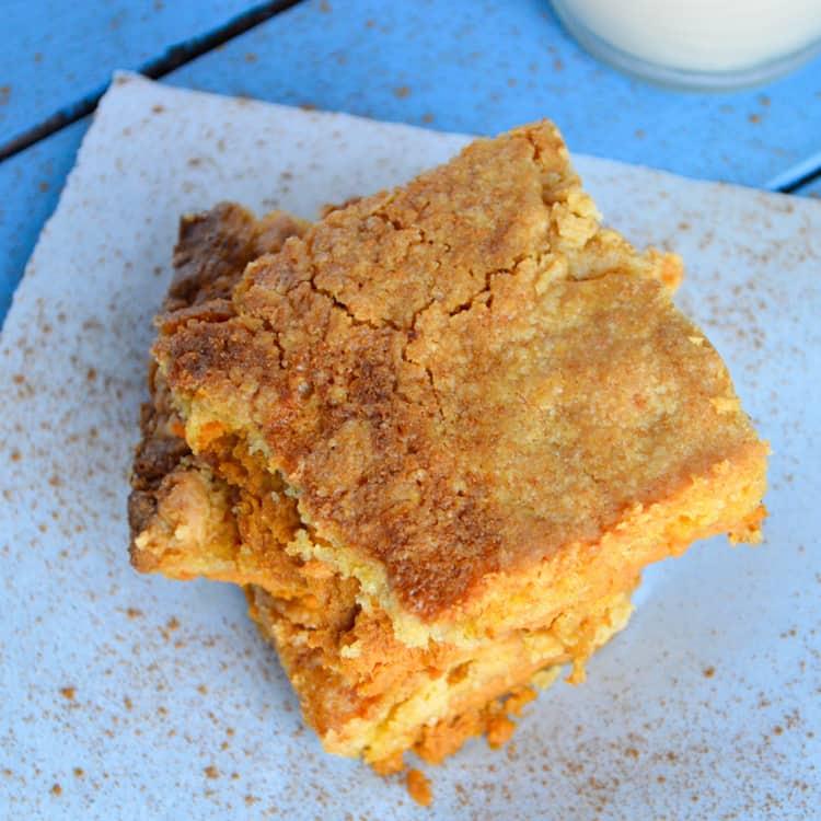 Pumpkin Pie Cake with Cinnamon