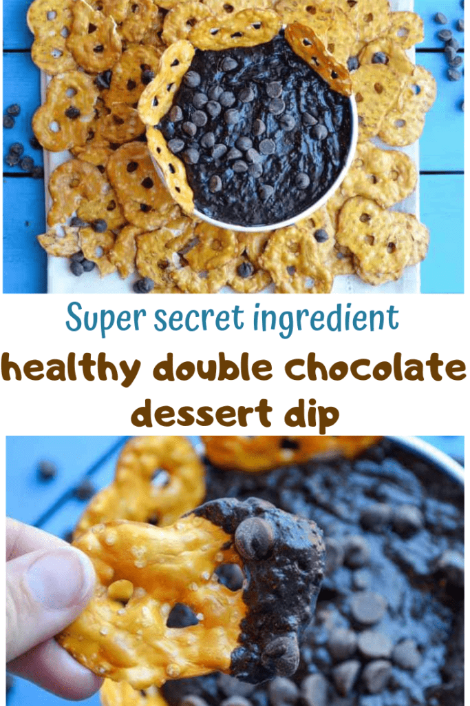 super secret ingredient healthy double chocolate dessert dip