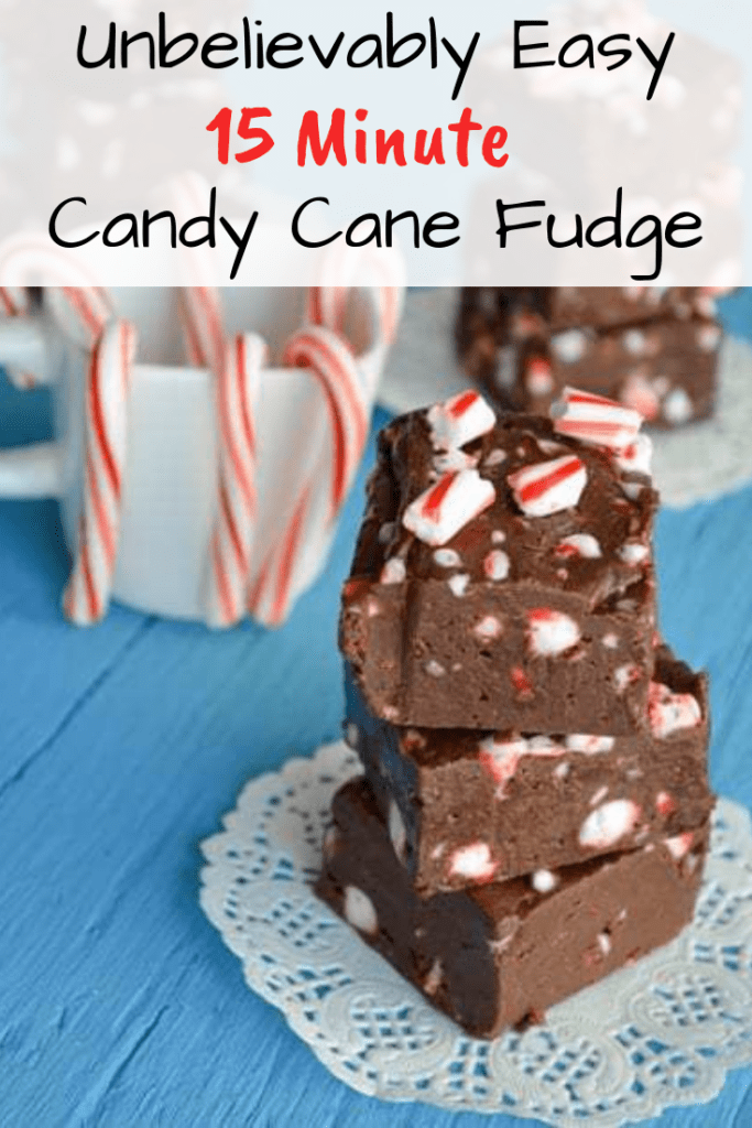 Unbelievably Easy 15 Minute Candy Cane Fudge