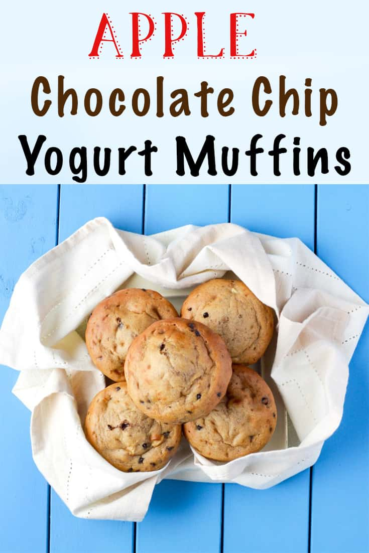 apple chocolate chip yogurt muffins