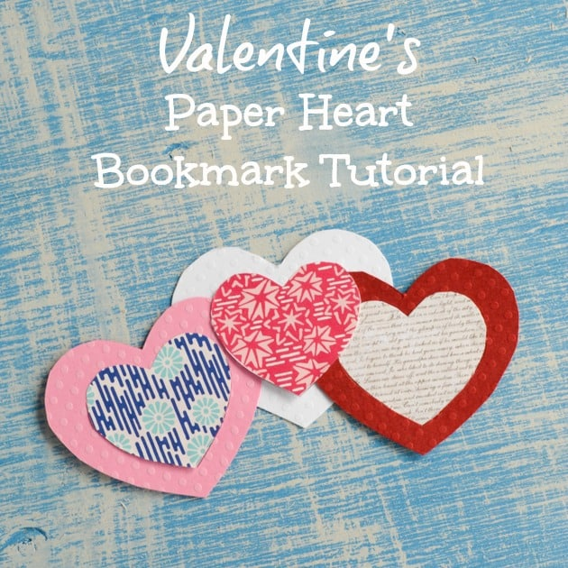 Valentine's Paper Heart Bookmark for Valentines Tutorial