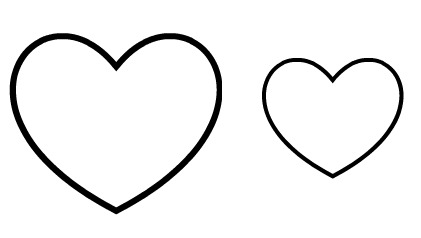 heart bookmark template