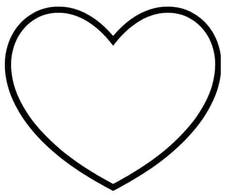 Breathtaking image for printable heart template