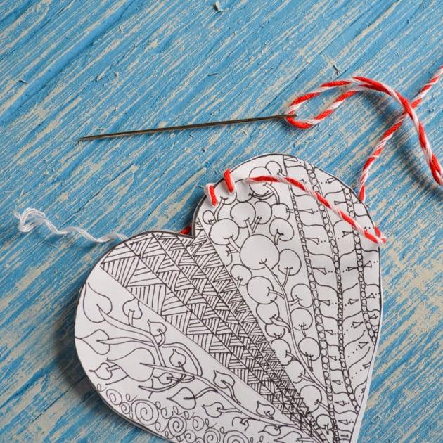 stitching heart