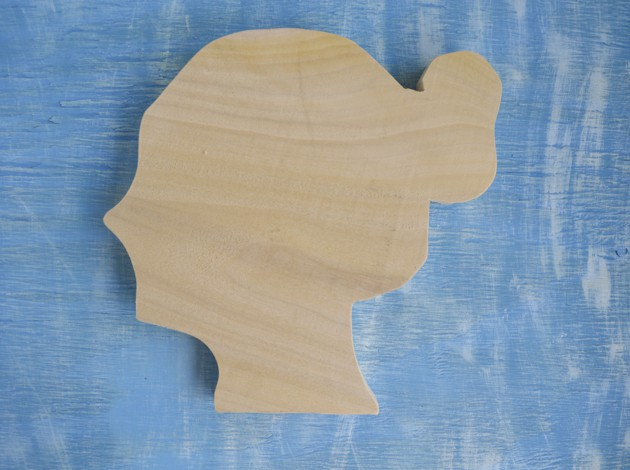 cut out wood silhouette