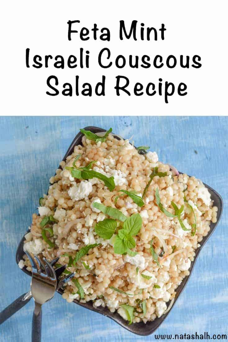 Feta Mint Israeli Couscous Salad