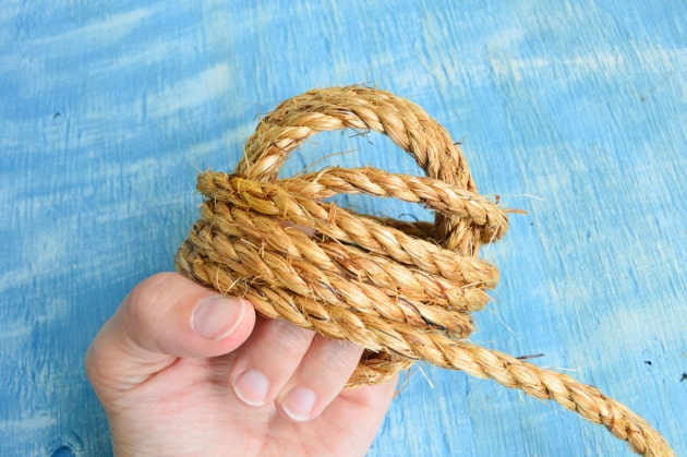 wrap down the knot