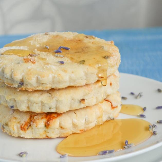 lavender scones with honey