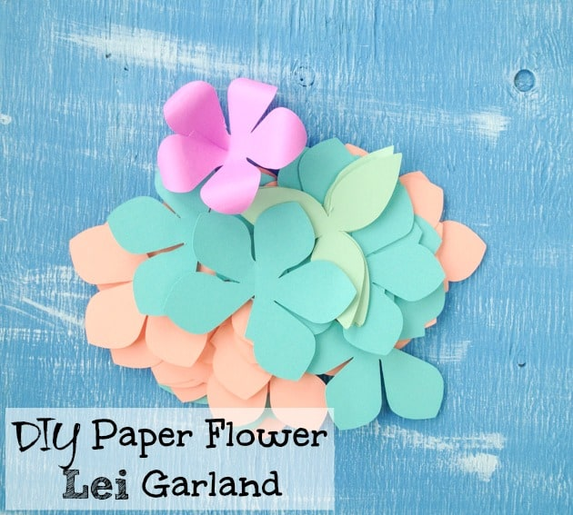Natashalh Diy Paper Flower Garland Lei Tutorial With Free