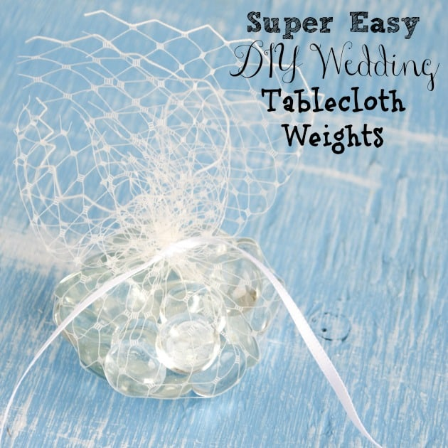 Easy DIY Wedding Tablecloth Weights