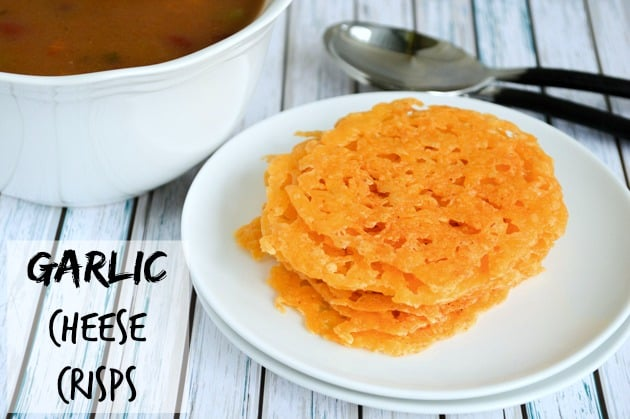 garlic cheese crisps