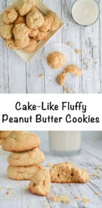 recipe for cake-like fluffy peanut butter cookies