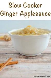 slow cooker ginger applesauce
