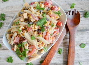 Chipotle Greek Yogurt Pasta Salad