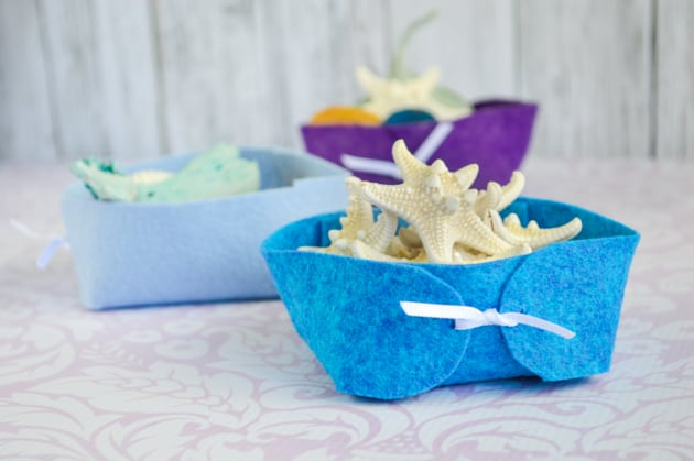 Easy DIY Folding Felt Bins