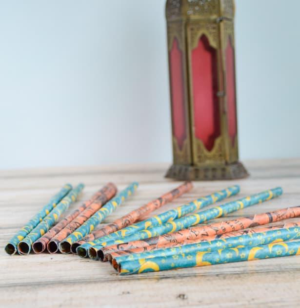 custom diy paper straws