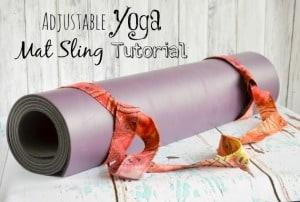 Adjustable Yoga Mat Sling Tutorial