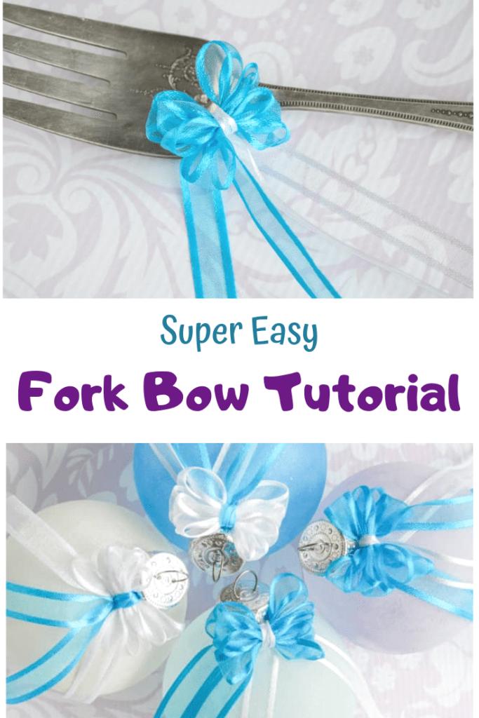 super easy fork bow tutorial