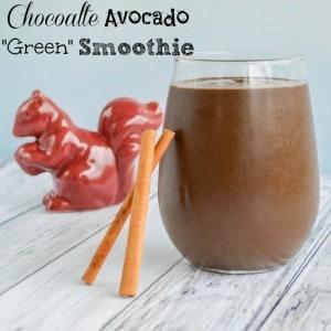 Paleo Chocolate Avocado Green Smoothie Recipe