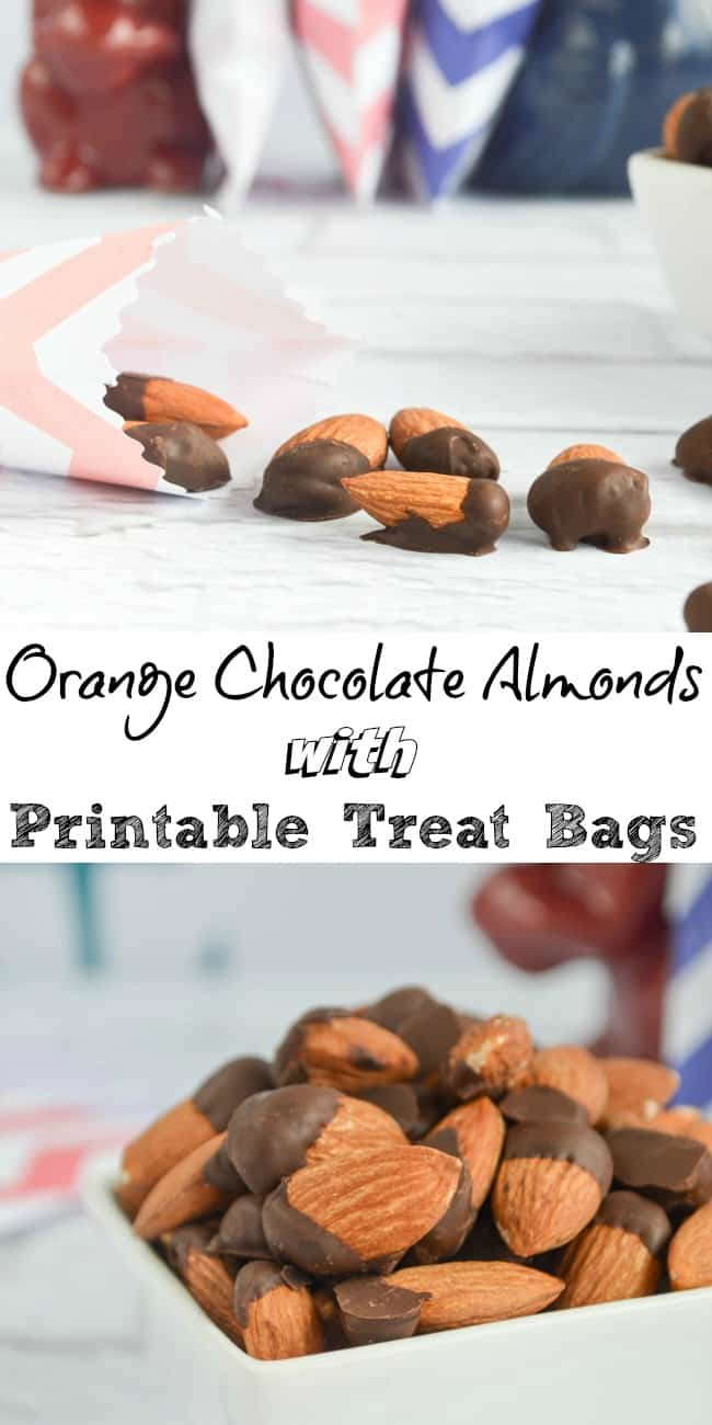 Orange Chocolate Almonds with Printable Treat Bags