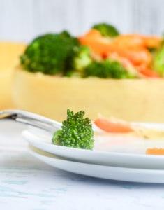 Spaghetti Squash with Italian Bell Pepper & Broccoli - Paleo and Vegetarian!