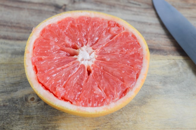 cut grapefruit segments