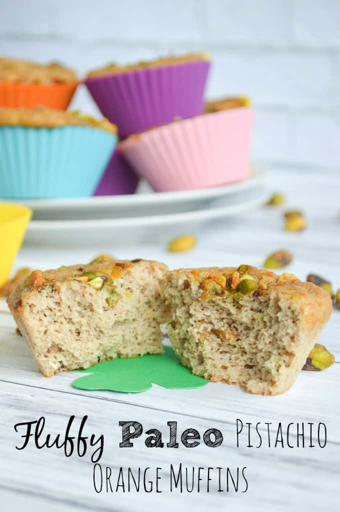 Fluffy Paleo Muffins with Pistachios and Orange Essential Oil - Grain Free, Dairy Free Muffin Recipe