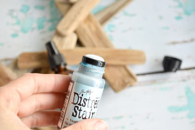 top of distress stain