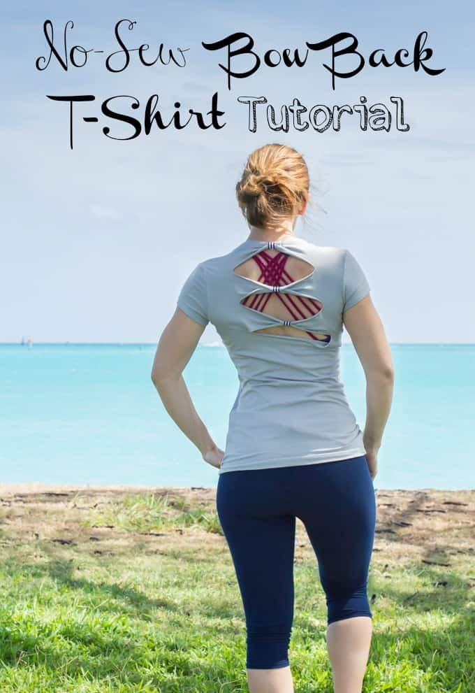 Bow Back T-Shirt Refashion Project Tutorial