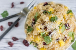 Mango Coconut Quinoa Salad