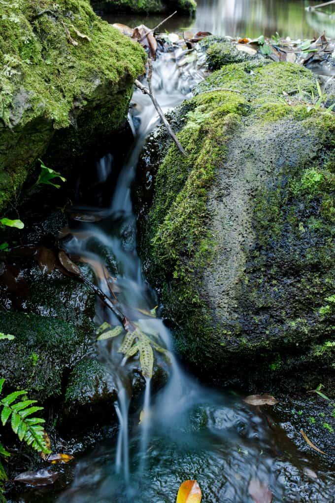 byodo-in temple waterfall 2