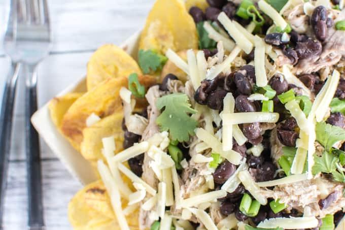 pork and black bean nachos