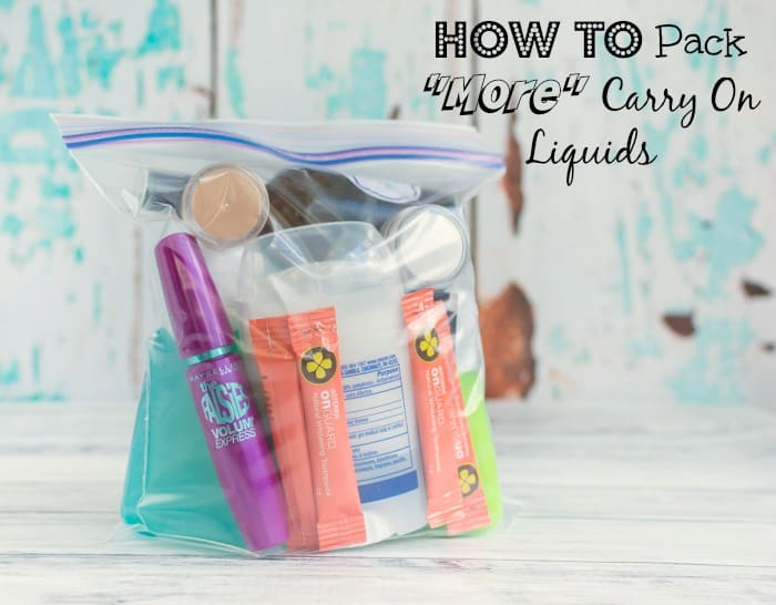 How To Pack More In Your Tsa Approved Liquid Carry On Bag