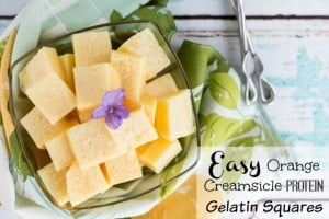 Orange Creamsicle Protein Gelatin Squares - Easy Workout Snack Recipe