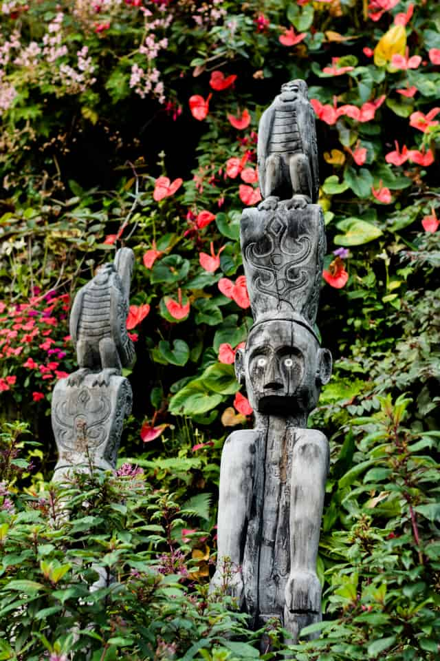 totems at Cloud Forest, Singapore