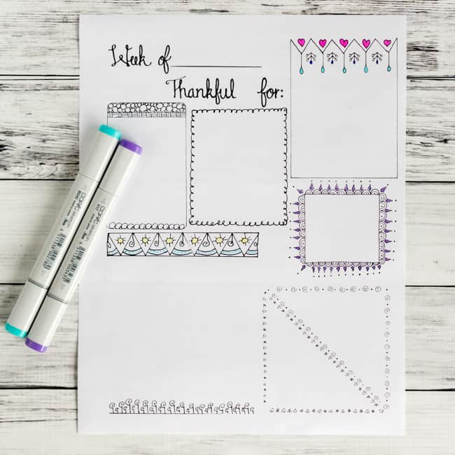 Canny image in free printable gratitude journal pages