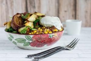 Quinoa Sweet Potato Kale Superfood Skillet Recipe - Vegetarian Friendly