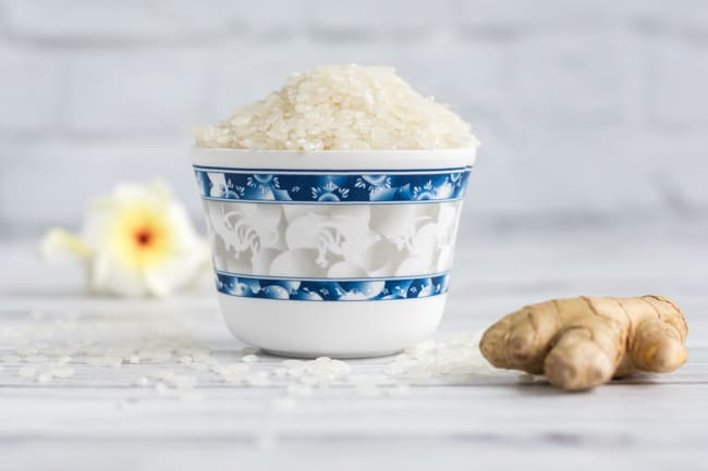 ingredients for ginger rice
