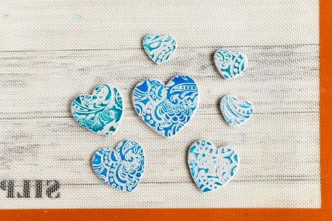 stamped embossed ornaments