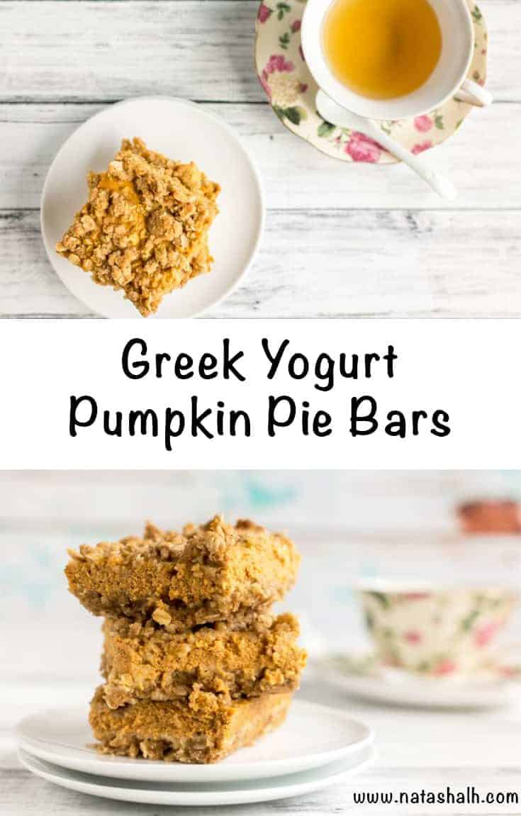 Greek Yogurt Pumpkin Pie Bars