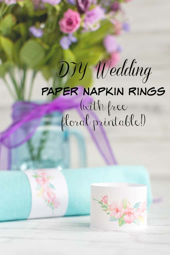 how to make paper napkin rings