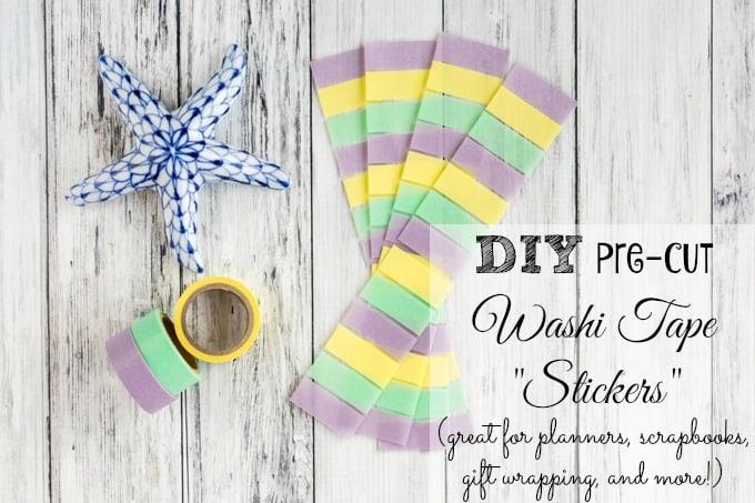 DIY pre-cut washi tape stickers tutorial